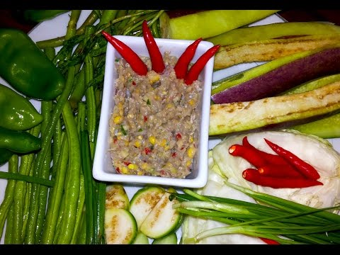 Asian Exotic Food - Cambodian Traditional Prahok Chunchram - Chopped Fermented Fish - Youtube