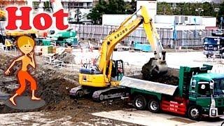JAPAN | KOMATSU Excavator  Dump truck | construction