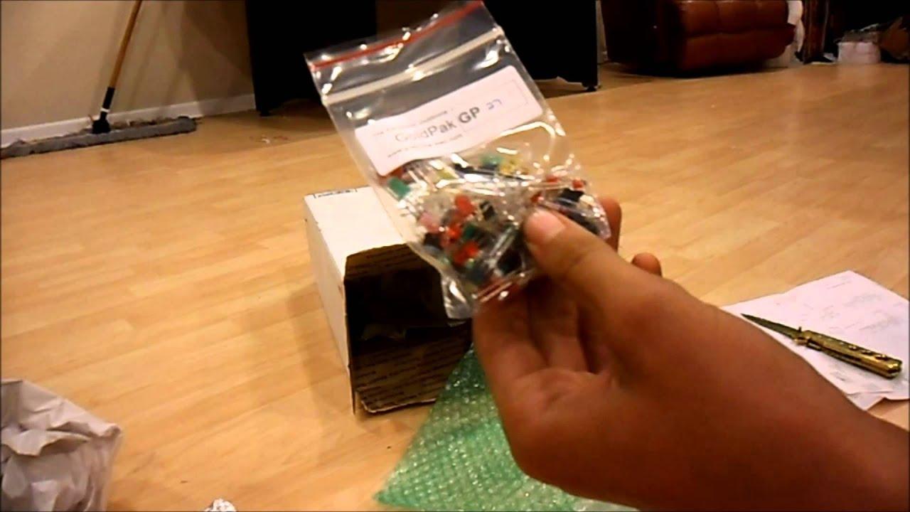 Unboxing electronic goldmine order - YouTube
