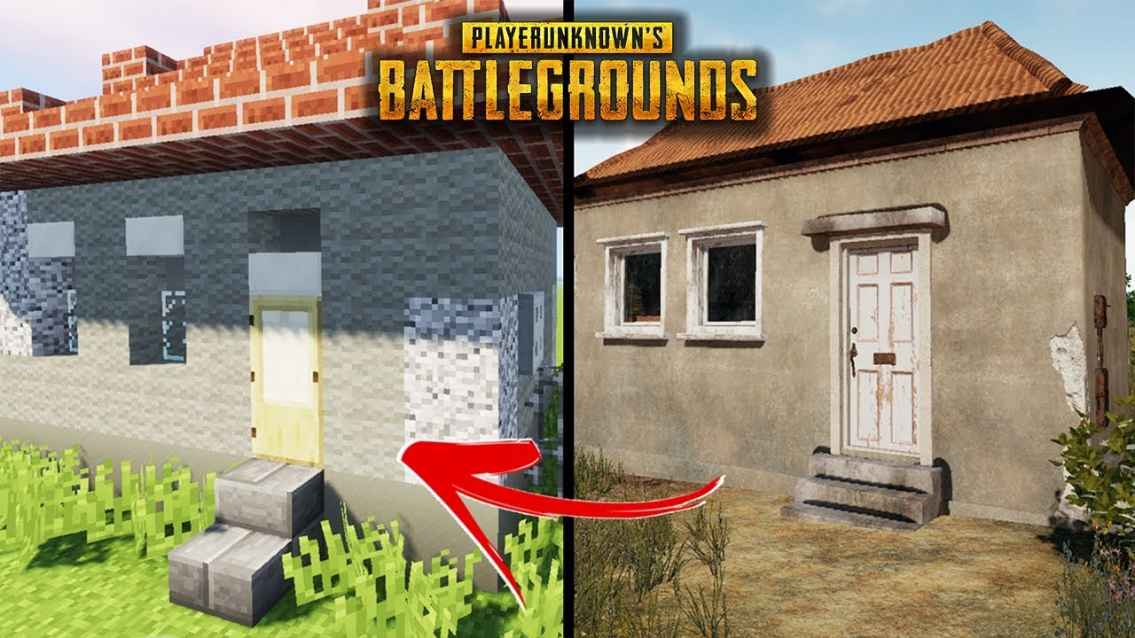 minecraft how to build a pubg house 4 player unknown battlegrounds tutorial youtube. Black Bedroom Furniture Sets. Home Design Ideas