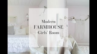 Farmhouse Girls Room Makeover Full of DIY Projects
