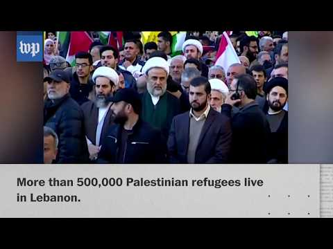 Mass protests against Trump's Jerusalem decision in Beirut