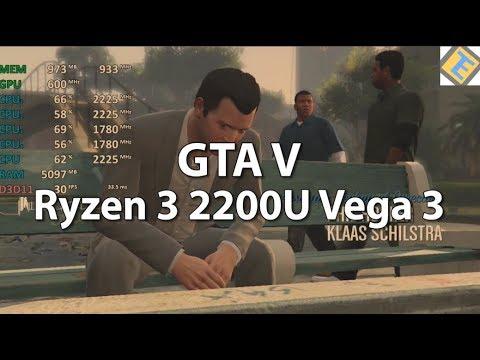 Gta V Ryzen 3 2200u Vega 3 Gameplay Benchmark Test Youtube