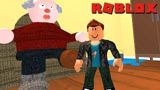 RUNNING FROM MY GRANDFATHER'S HOUSE in Roblox Grandpas House Escape Obby!