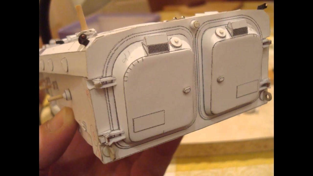 Papercraft BMP-1 paper model M 1:25