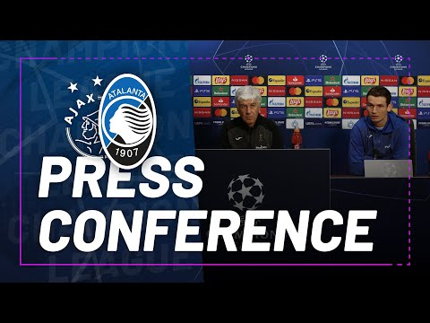 #UCL MD6   Ajax-Atalanta   La conferenza stampa di Gian Piero Gasperini e Marten de Roon