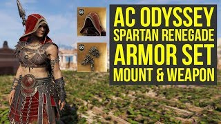 Assassin's Creed Odyssey Gameplay SPARTAN RENEGADE SET, Weapon & Mount (AC Odyssey Gameplay)