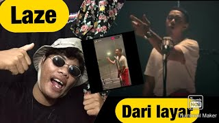 LAZE DARI LAYAR!! | REACTION RAP INDONESIA