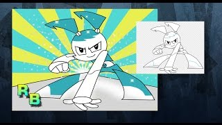 Drawing Jenny From My life as a Teenage Robot