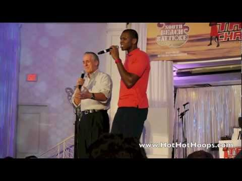 James Jones and Pat Riley at Battioke 2013 sing Cee Lo's Forget You