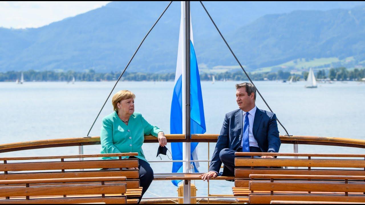 Kabinettssitzung mit Bundeskanzlerin Dr. Angela Merkel auf Herrenchiemsee - Bayern