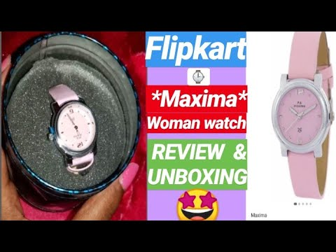 FLIPKART WRIST WATCH UNBOXING AND REVIEW | MAXIMA WATCH