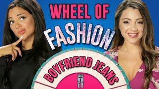 NikiAndGabi's Boyfriend Jeans Challenge! Wheel Of Fashion
