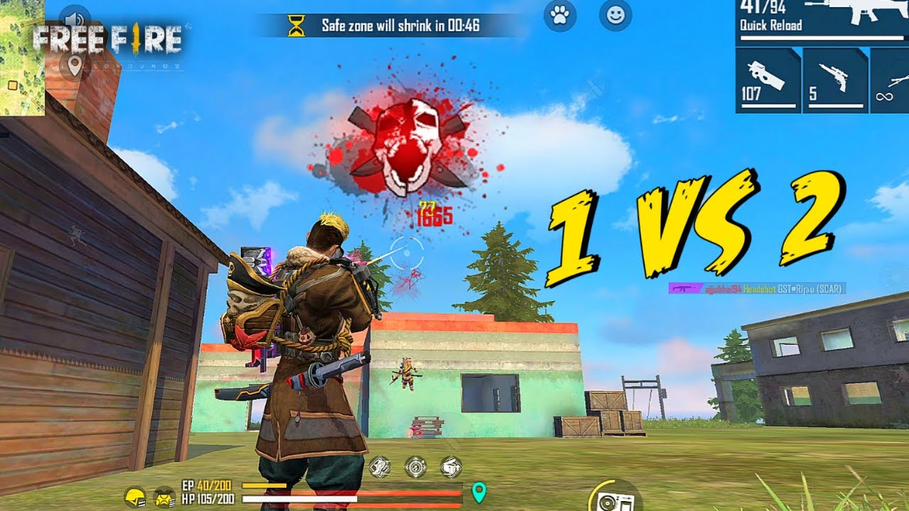 Solo vs Duo HeadShot Heartbreaking Last Moment - Garena Free Fire