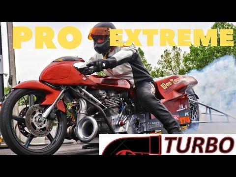 INSANE THREE SECOND TURBO MOTORCYCLES DRAG RACE AT XDA IHRA EVENT! KZ Vs. HAYABUSA Vs GS! FULL EVENT