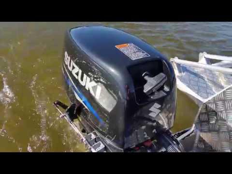 Заводим мотор Suzuki 30 мороз -25 - YouTube