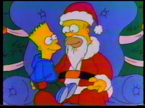 Christmas Simpsons.The Simpsons Christmas Special Commercial 1989