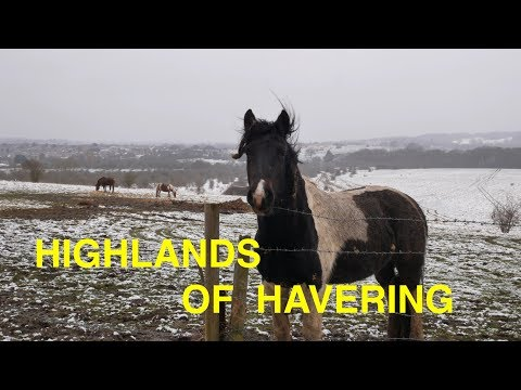 London hill walk in the snow - Grange Hill to Romford via Havering-atte-Bower (4K)