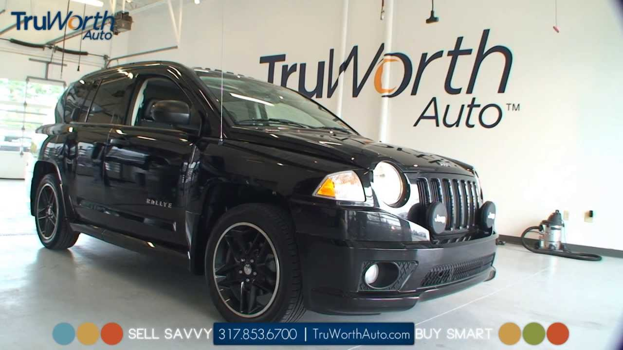 2008 Jeep Compass Sport Rallye   Heated Leather Seats   Sunroof   TruWorth  Auto   YouTube