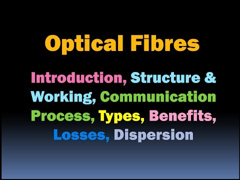 Optical Fibres in Communication: Covers all Important Points