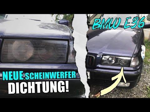 BMW E36 Scheinwerfer Aus & Einbauen   Neu Dichtung Einbauen