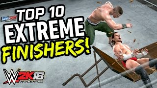 WWE Smackdown vs Raw 2008 - Top 10 Extreme Finishers