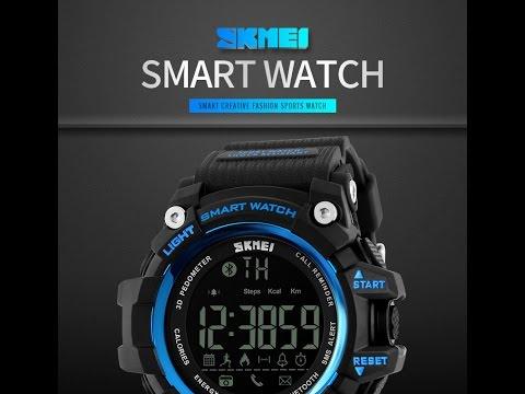 SKMEI 1227. SMART HODINKY S Bluetooth. Baliček z Aliexpress - YouTube 373063cb5a0