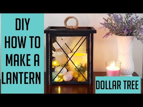 Dollar Tree DIY/How to make a Lantern/Easter Decor.