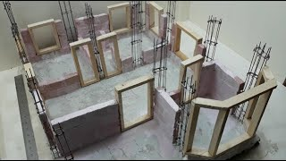 Bricklaying Mini House Foundation Model | Amazing | Part 1