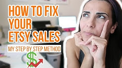 How to make your ETSY SHOP SUCCESSFUL | Etsy Sales down 2018