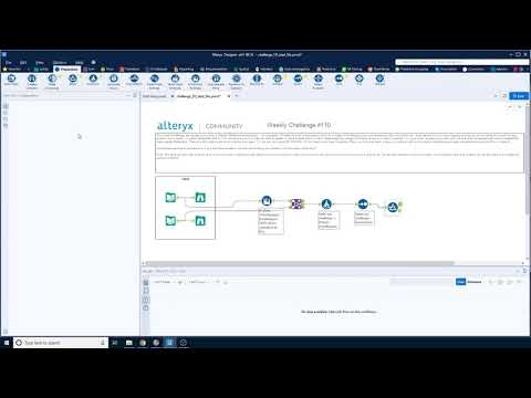 Alteryx weekly challenge week 111 - Make a Weekly Challenge Dream Team! Advanced Data Analysis
