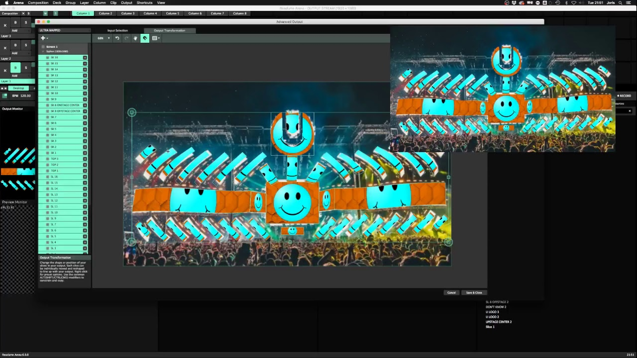 Resolume Live Stream: Using Slice Transforms