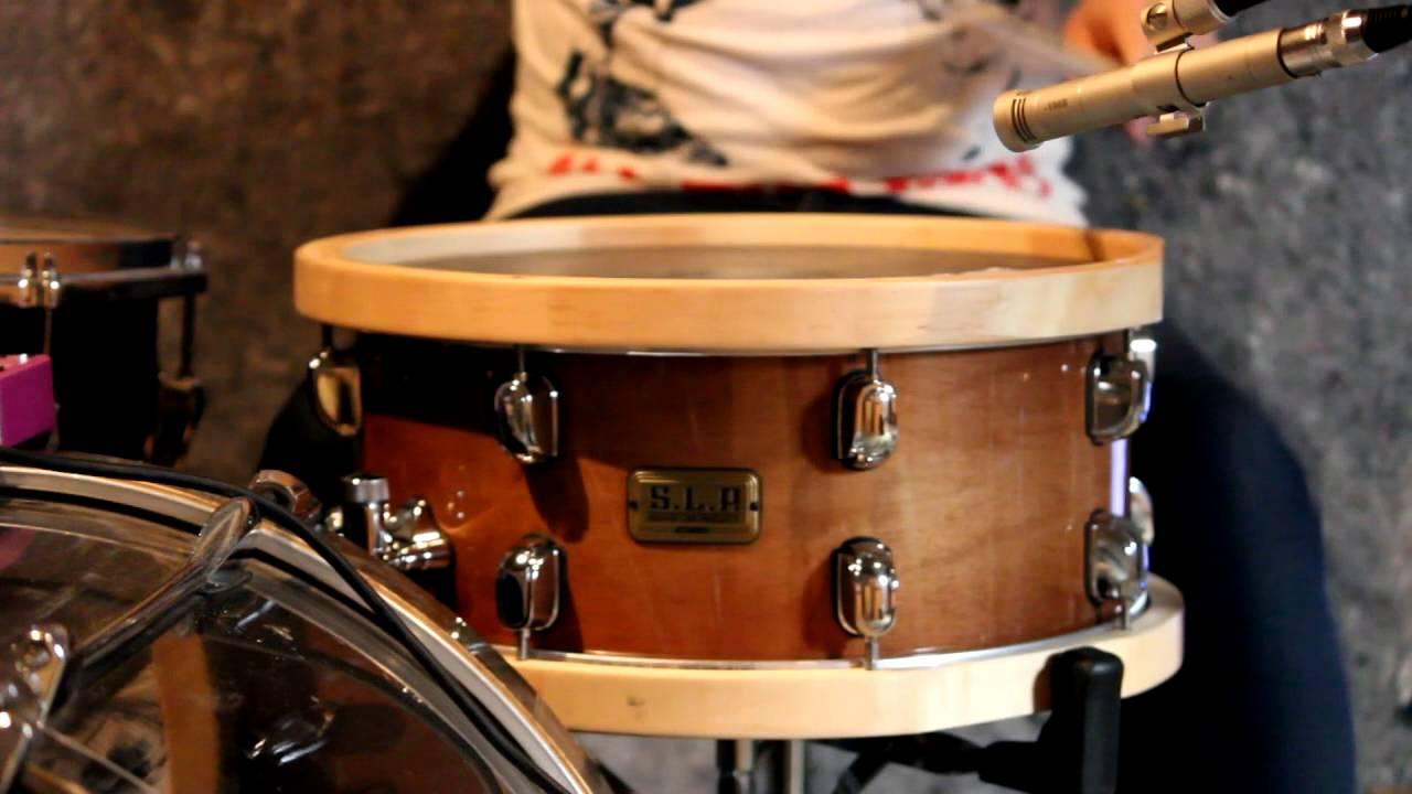 tama s l p studio maple lmp1465fsen wood hoop snare drum youtube. Black Bedroom Furniture Sets. Home Design Ideas