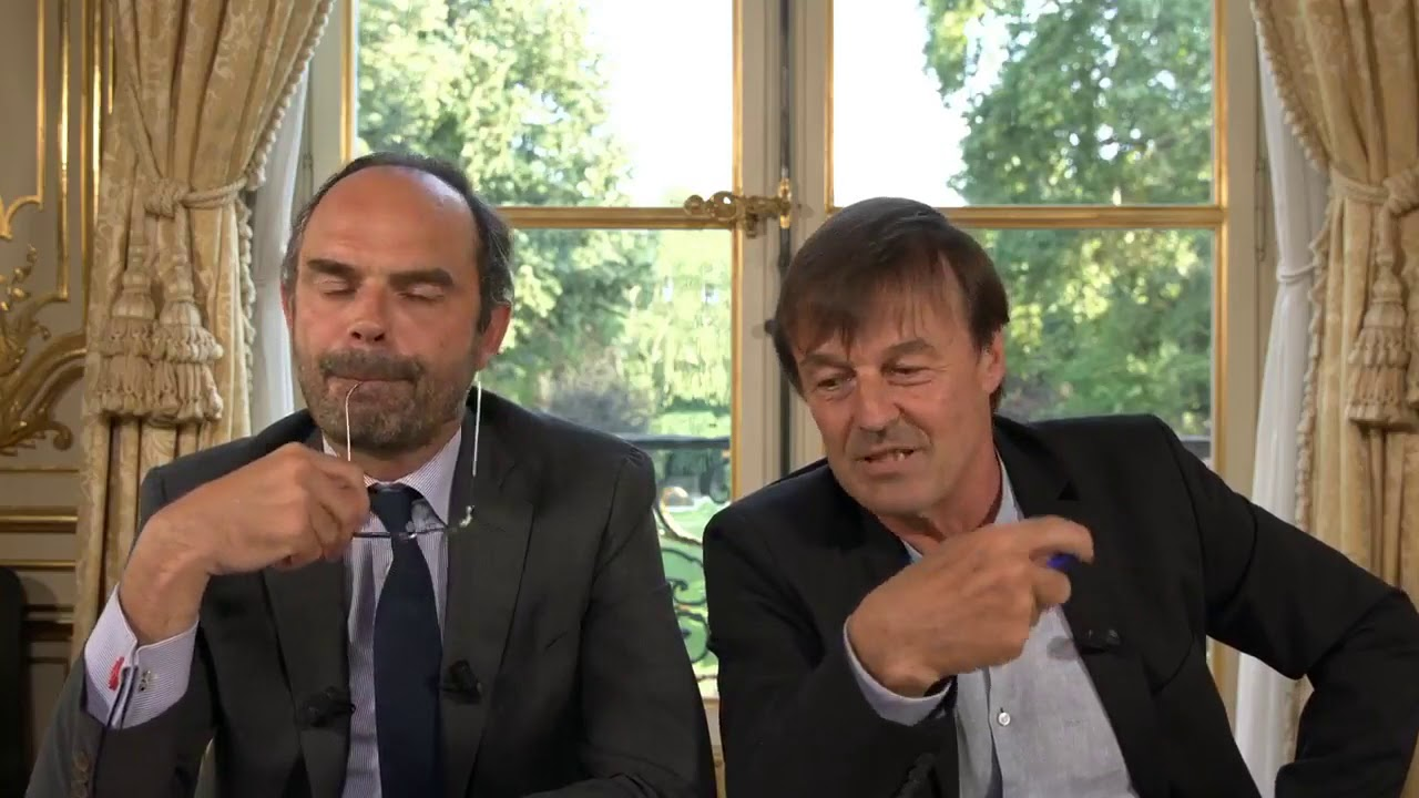 Edouard Philippe et Nicolas Hulot parlent d'effondrement   02 07 2018