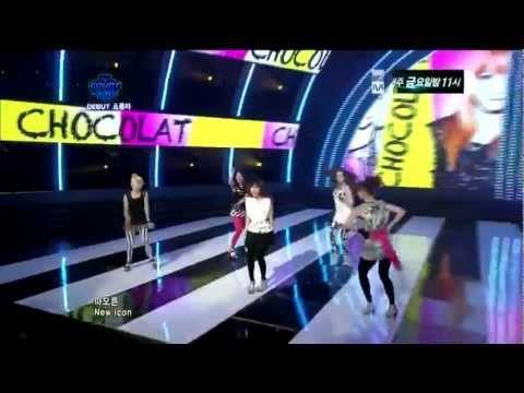 [LIVE/HD] Chocolat - Syndrome Debut Stage M! Countdown ( Aug 18, 2011)
