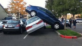 Top 10 Funniest Parking Fails COMPILATION! - [2014]