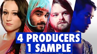 4 PRODUCERS FLIP THE SAME SAMPLE ft. Dorian Electra, ABSRDST, Diveo, Neon Vines