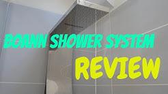 Boann Modern Rainfall & Waterfall Shower System & Linear Drain REVIEW