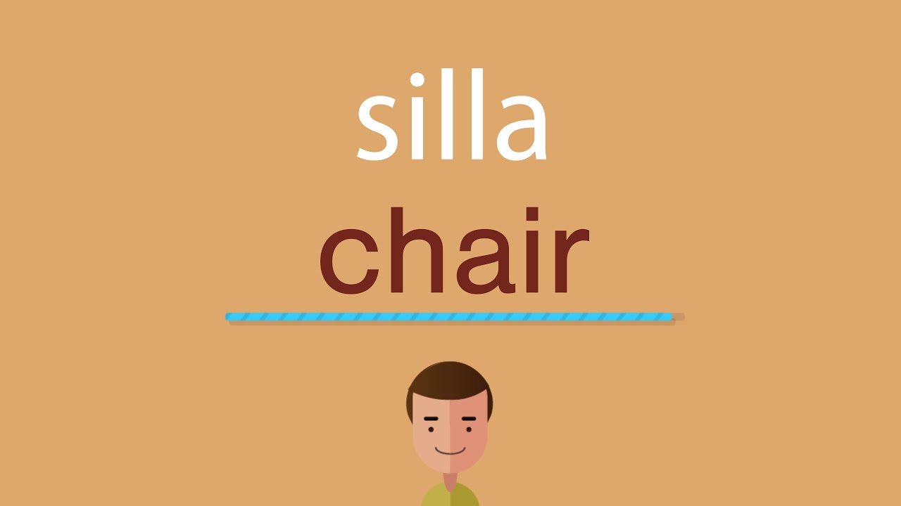 Cómo Se Dice Silla En Inglés Youtube