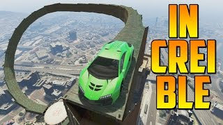 increble acrobacia impresionante gameplay gta 5 online funny moments