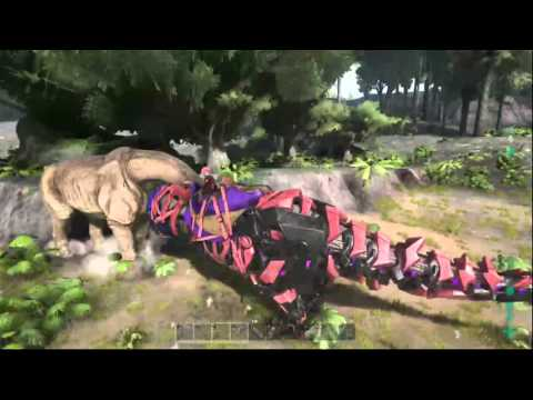 manbearpig plays ark survival 2 new dinos the meat machines and finishing our metal factory