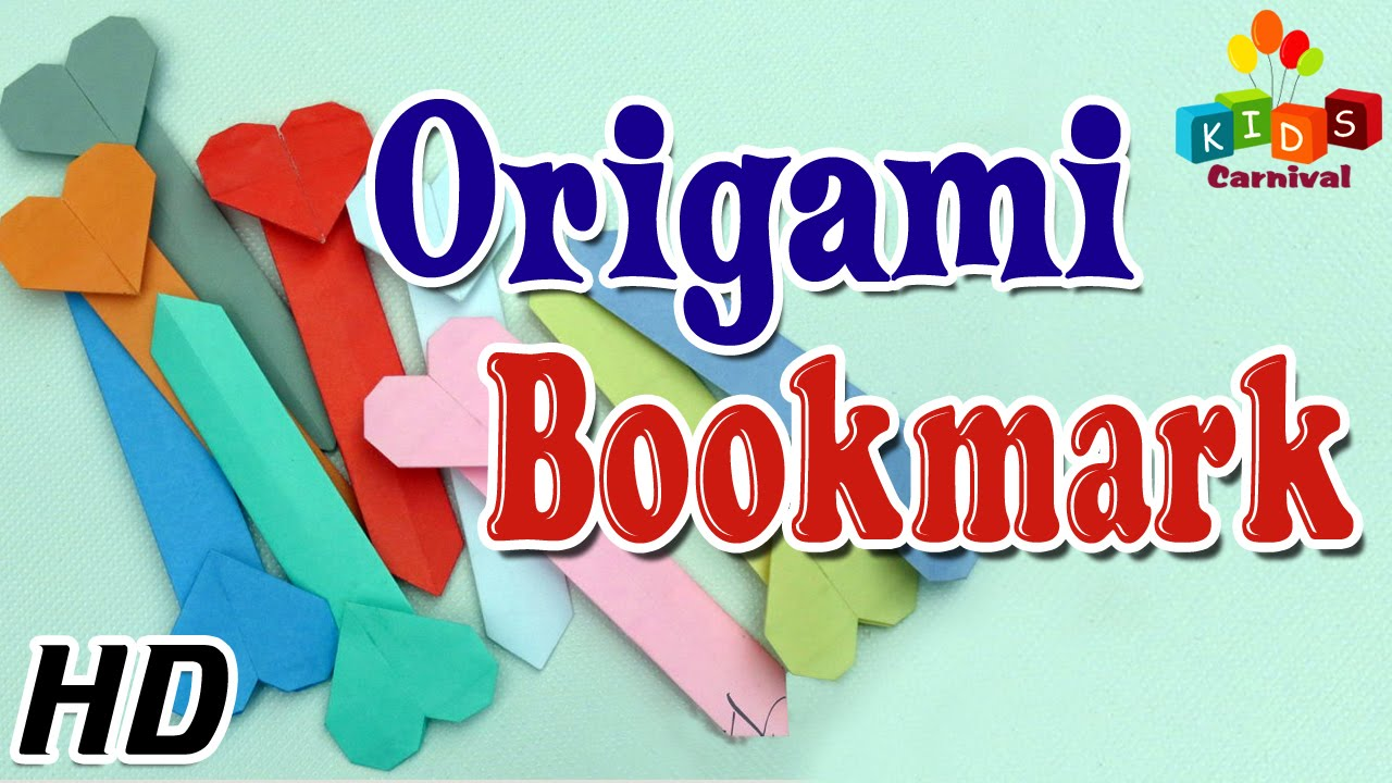 Origami how to make bookmark simple tutorial in How to make a simple bookmark