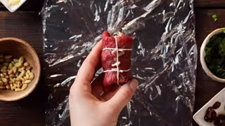 Date Night Recipe - Beef Braciole in a Red Wine Tomato Sauce