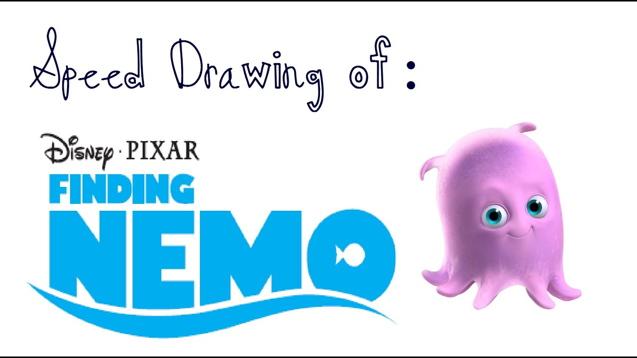 Speed Drawing Of Pearl From Finding Nemo