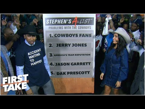 Stephen A. dissects Cowboys\' top 5 issues in front of Dallas fans | First Take