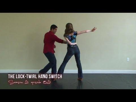 Advanced Salsa Dance Moves - Lock Twirl Hand Switch