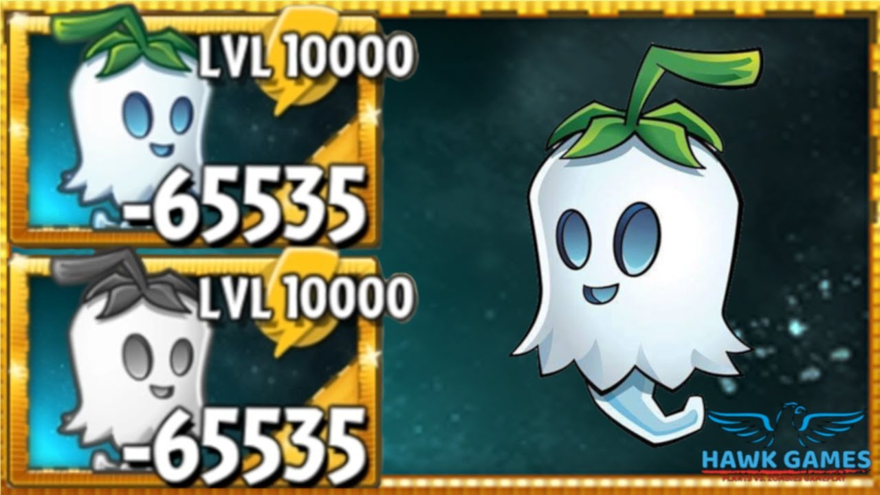 Plants vs Zombies 2 Ghost Pepper Upgraded to Level 10000 PvZ2