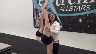 "Cheer Extreme Instructional Video Series Part 2 ""Scorpion Stretches"" for Flyers"