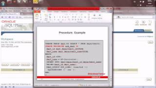 كورس PL SQL   المحاضره العاشره  Creating Stored Procedures and Functions