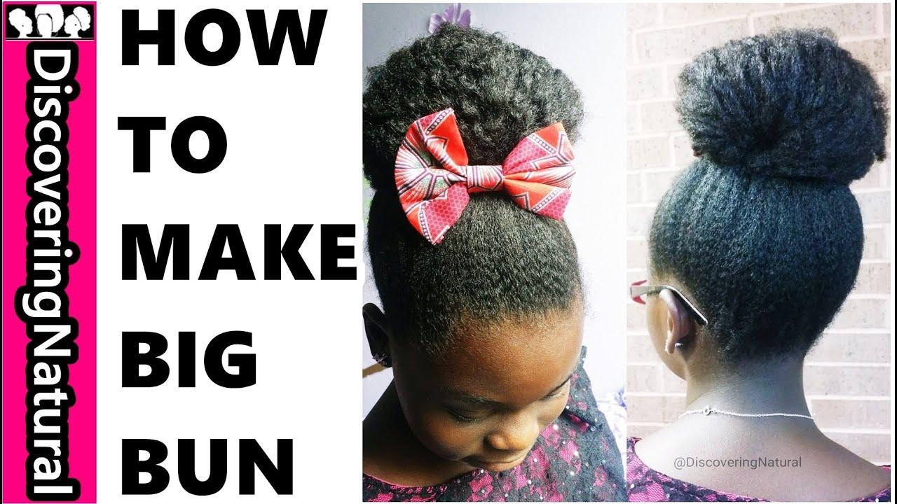 how to make a back hair bun